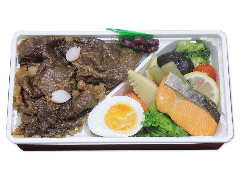 牛すき焼きと春野菜弁当