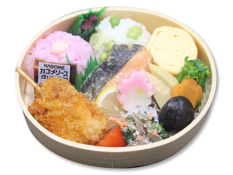 醤油麹漬け焼鮭のわっぱ弁当